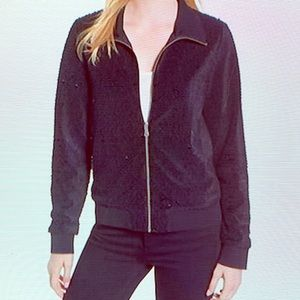 Trouble Black Sequin Jacket